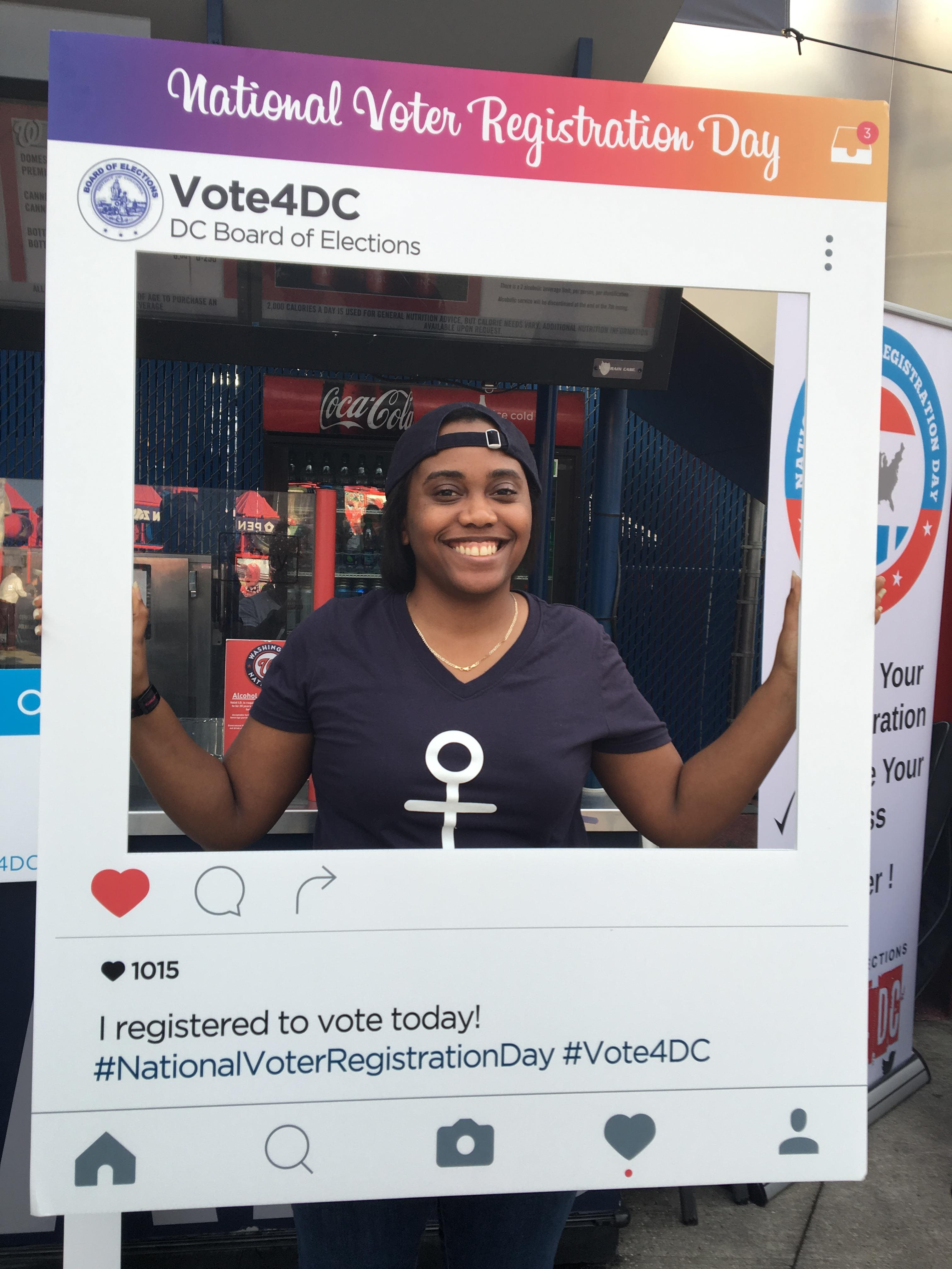 National Voter Registration Day at Nats Park